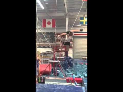 Sarah Clark Gymnastics   Level 10   Catching My Jaeger!!