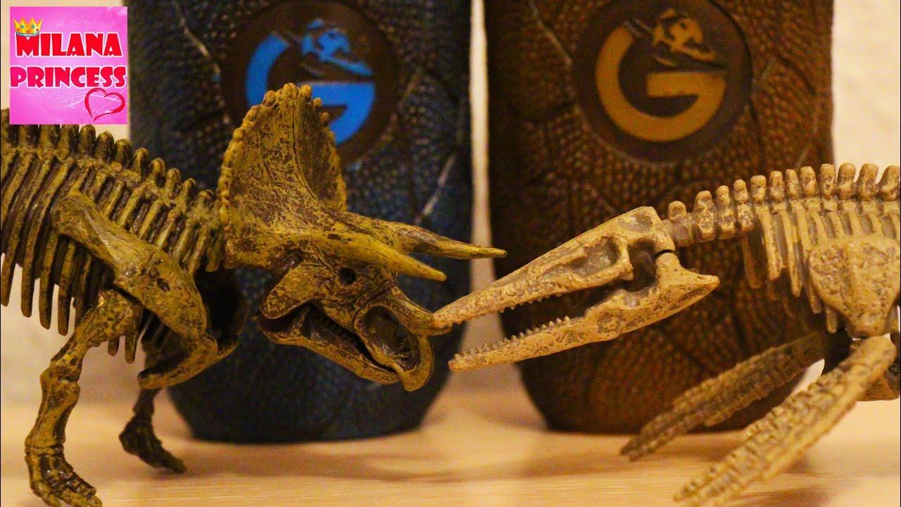 Яйцо динозавра TRICERATOPS. Собираем скелет динозавра из серии Jurassic EGGS Geoworld