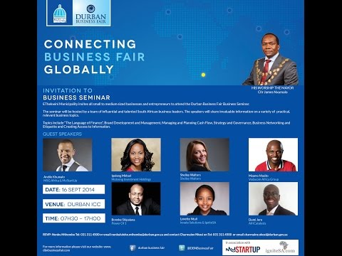 Mzamo Masito at the Durban Business Fair 2014 | Brought to you by IgniteSA and MyStartUp
