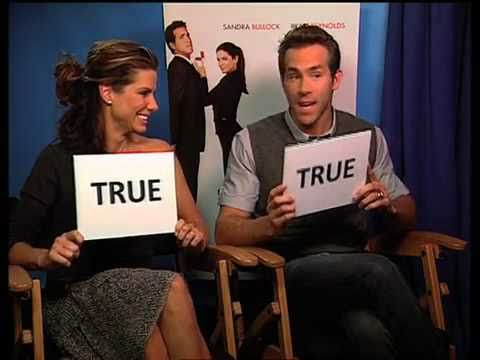 True Or False Quiz With Sandra Bullock And Ryan Reynolds Youtube