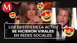 Jennifer Aniston reaccionó así al ver a Brad Pitt en los Globos de Oro 2020