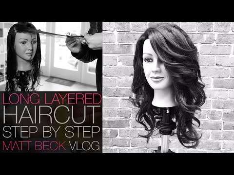 How To Cut A Long Layered Haircut Step By Step Matt Beck Vlog 014
