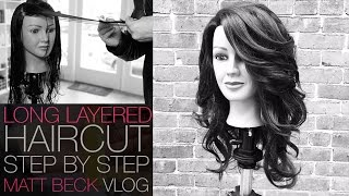 HOW TO CUT A LONG LAYERED HAIRCUT STEP BY STEP | MATT BECK VLOG 014
