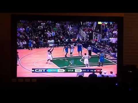 Emeka Okafor New Orleans Hornets buzzer beater vs. Utah Jaz