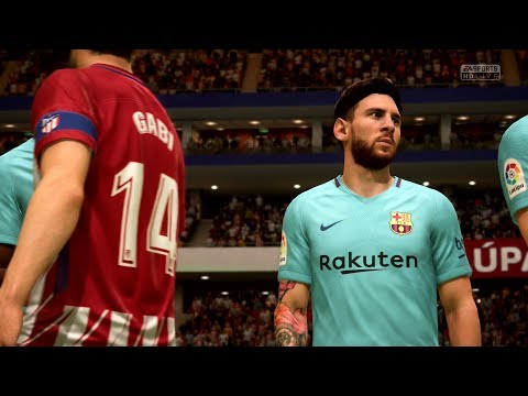 FIFA 18 | Atlético Madrid vs FC Barcelona - Wanda Metropolitano (Full Gameplay PS4/Xbox One)