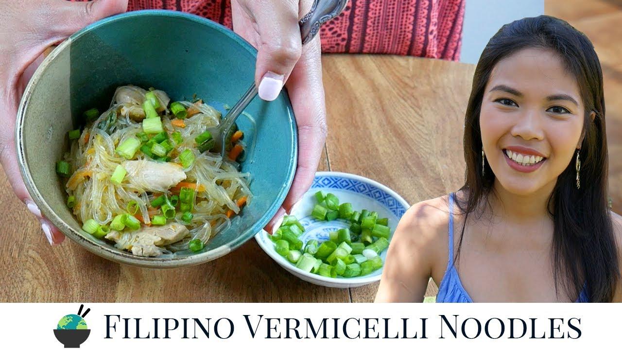 Filipino Pancit Recipe   How To Make Filipino Noodles, featuring the Veggie Bullet!
