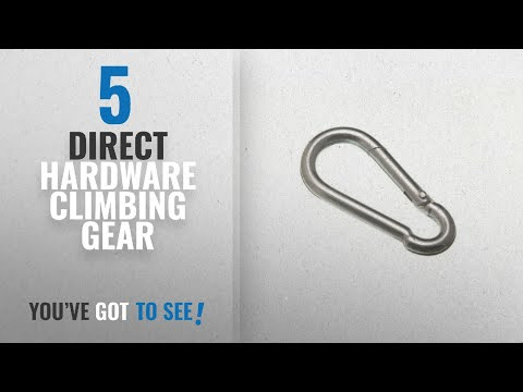 Top 10 Direct Hardware Climbing Gear [2018]: 12 Of Snap Spring Clip Carbine Hook ( Carabiner ) 4Mm