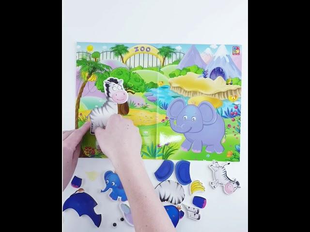 Vladi Toys VT4206-27 Игра с наклейками и глазками Зоопарк