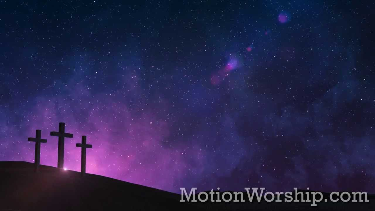 3d Jesus Christ Live Wallpaper Calvary Night Stars Hd Looping Background By Motion