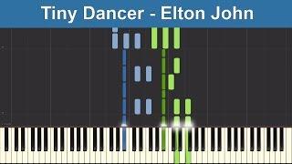 Tiny Dancer - Elton John - Synthesia Piano Tutorial