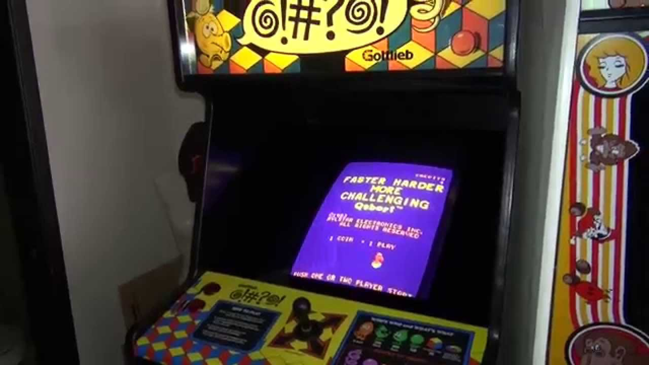 The very first Q*Bert arcade game - prototype #1 - and other rare ...