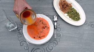 A Food-Inspired Life: Food Styling Secrets (floating garnish on soup)