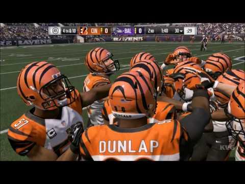 Madden NFL 17 - Cincinnati Bengals vs Baltimore Ravens | Gameplay (HD) [1080p60FPS]