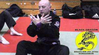 (WEEK 1)Breaking posture from closed guard /  collar choke (palm up)