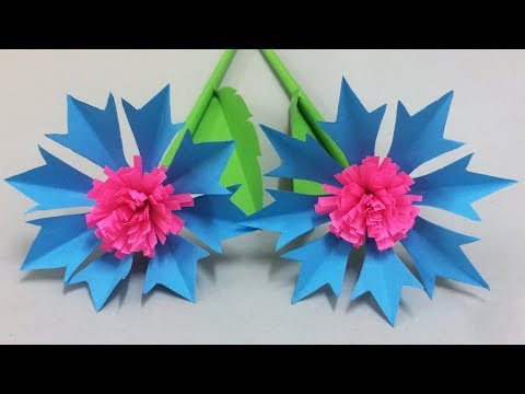 How to Make Beautiful Paper Flower - Easy Paper Flowers for Beginners Making - DIY Paper Crafts