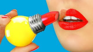 10 DIY Weird Makeup Ideas / Funny Makeup Pranks