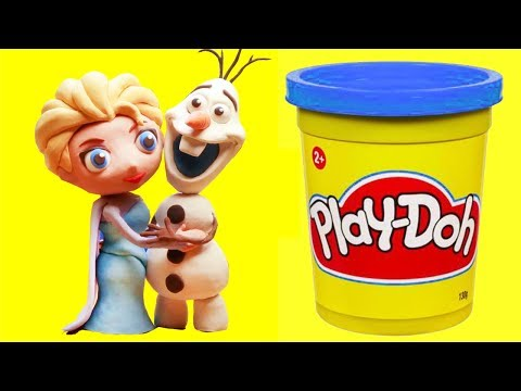 Elsa & Olaf Stop motion clay animation video funny for kids