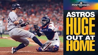 Astros' Carlos Correa gets huge out at home to keep ALCS Game 2 tied! | MLB Highlights