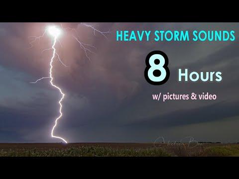 Thunderstorm Sounds | Relaxation, Background, Sleep, White Noise