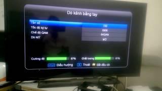 Hướng dẫn dò kênh đầu thu SCTV V3 - 6822