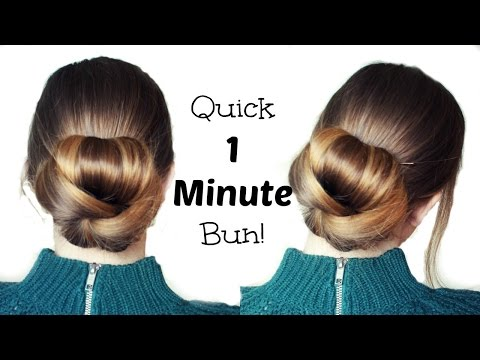 Quick and Easy 60 Second  Bun Hairstyle Updo | Easy Hairstyles | Braidsandstyles12