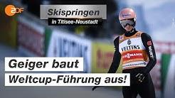 Skispringen: Geiger verteidigt gelbes Trikot in Titisee   SPORTextra - ZDF
