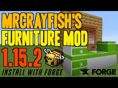 MRCRAYFISH'S FURNITURE MOD 1.15.2 Minecraft - How To Download & Install Furniture Mod 1.15.2 + Forge