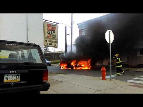 8-31-16 7100 State Road, Phladelphia, PA, Car Fire with Citzen Commentary