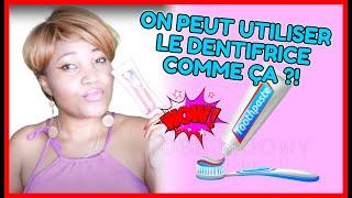 Utilisations meconnues du dentifrice !