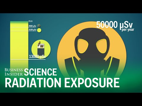 Here's how much radiation you're exposed to in everyday life