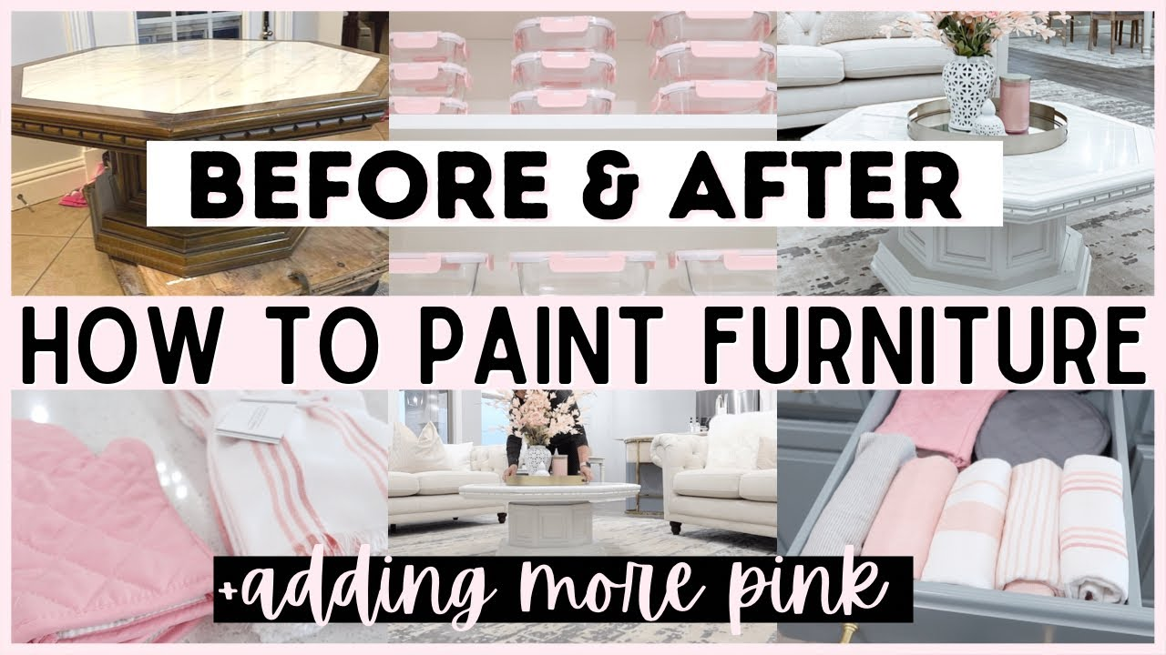 DIY BEFORE & AFTER FURNITURE | HOW TO PAINT WOOD TABLES | AMAZING COFFEE TABLE MAKEOVER!