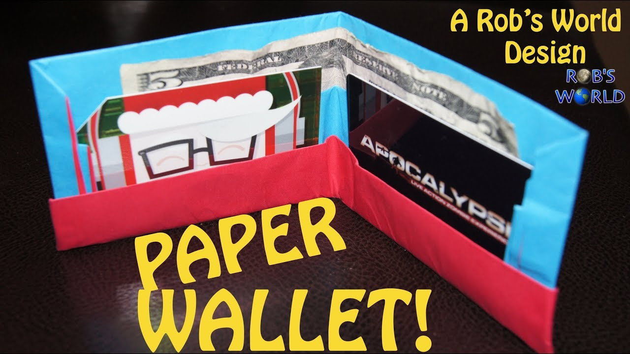Papercraft How to Make an Easy Paper Wallet! - Rob's World