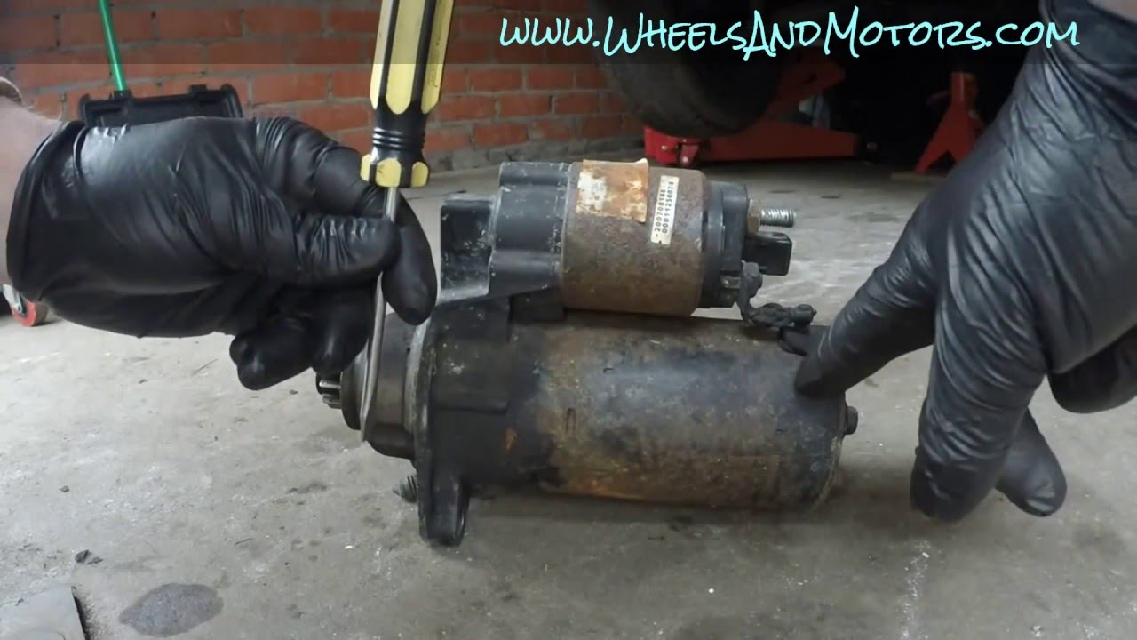 How To Test Fix Or Replace Starter Motor Vw Golf Mk4 Youtube Bosch Wiring Diagram