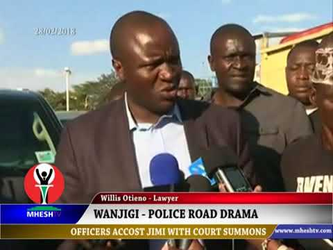 Drama as police accost Jimi Wanjigi on the road  https://youtu.be/r1n9KT26tlQ