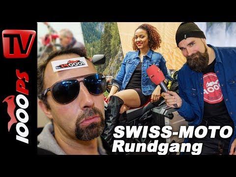 SWISS-MOTO 2018 Rundgang - Alle Motorrad Highlights, Messegirls und Custombikes mit Vauli und K.OT