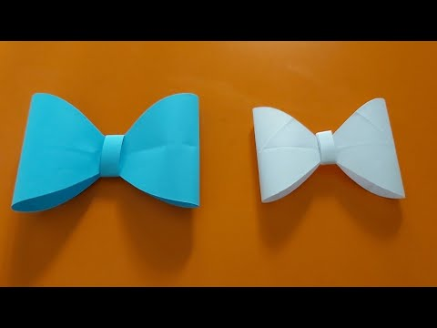 How to make a paper bow | easy origami bow | paper bow craft ideas
