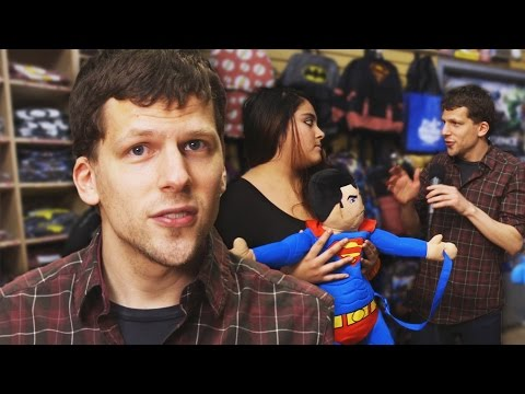 Jesse Eisenberg Asks Comic Fans: Batman or Superman? // Omaze