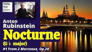 Anton Rubinstein : Nocturne in G flat , Op. 28.No. 1