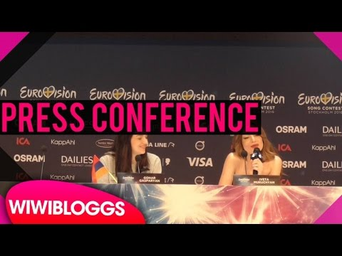 "Armenia press conference: Iveta Mukuchyan ""LoveWave"" @ Eurovision 2016 
