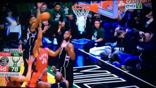 Giannis Block with his Elbow?!! Game 3
