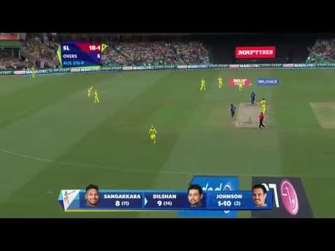 AUS vs SL: Dilshan's 6 fours in an over off Johnson. Watch ICC World Cup videos on starsports.com