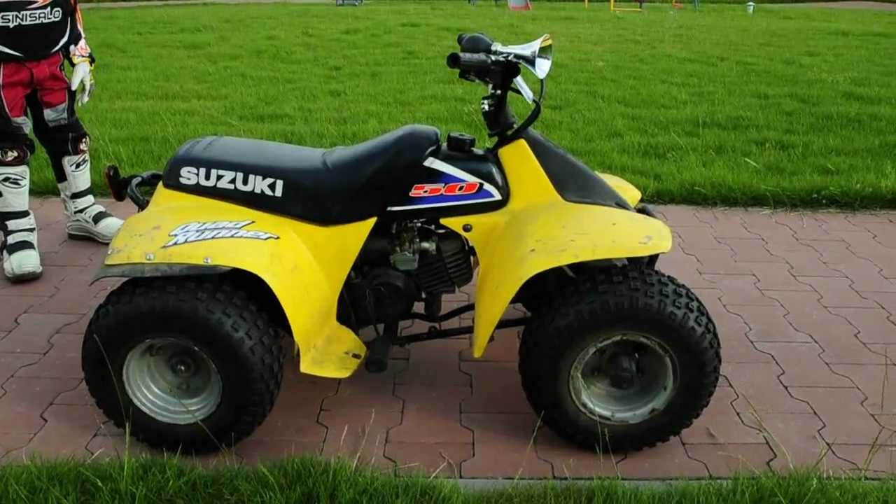 Suzuki LT 50 Quad Runner 5 Years old Karol .AVI - YouTube