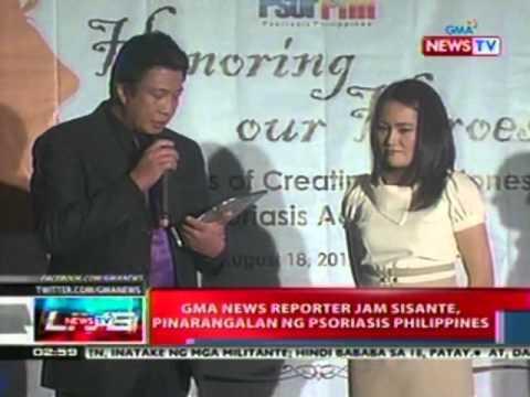 NTL: GMA News reporter Jam Sisante, pinarangalan ng Psoriasis Philippines