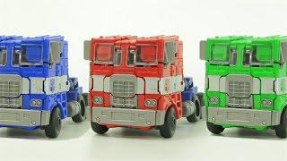Transformers Optimus Prime Color Compose StopMotion  Car Toys 트랜스포머 옵티머스프라임 스톱모션 컬러합성 자동차 장난감 변신 동영상