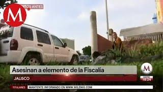 Momento en que se desata balacera en Tlajomulco