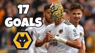 Raul Jimenez • Todos los goles para Wolves en 18/19