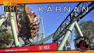 Der Schwur des KÄRNAN Roller Coaster @ Hansa Park | on-ride POV first row | Achterbahn Karnan