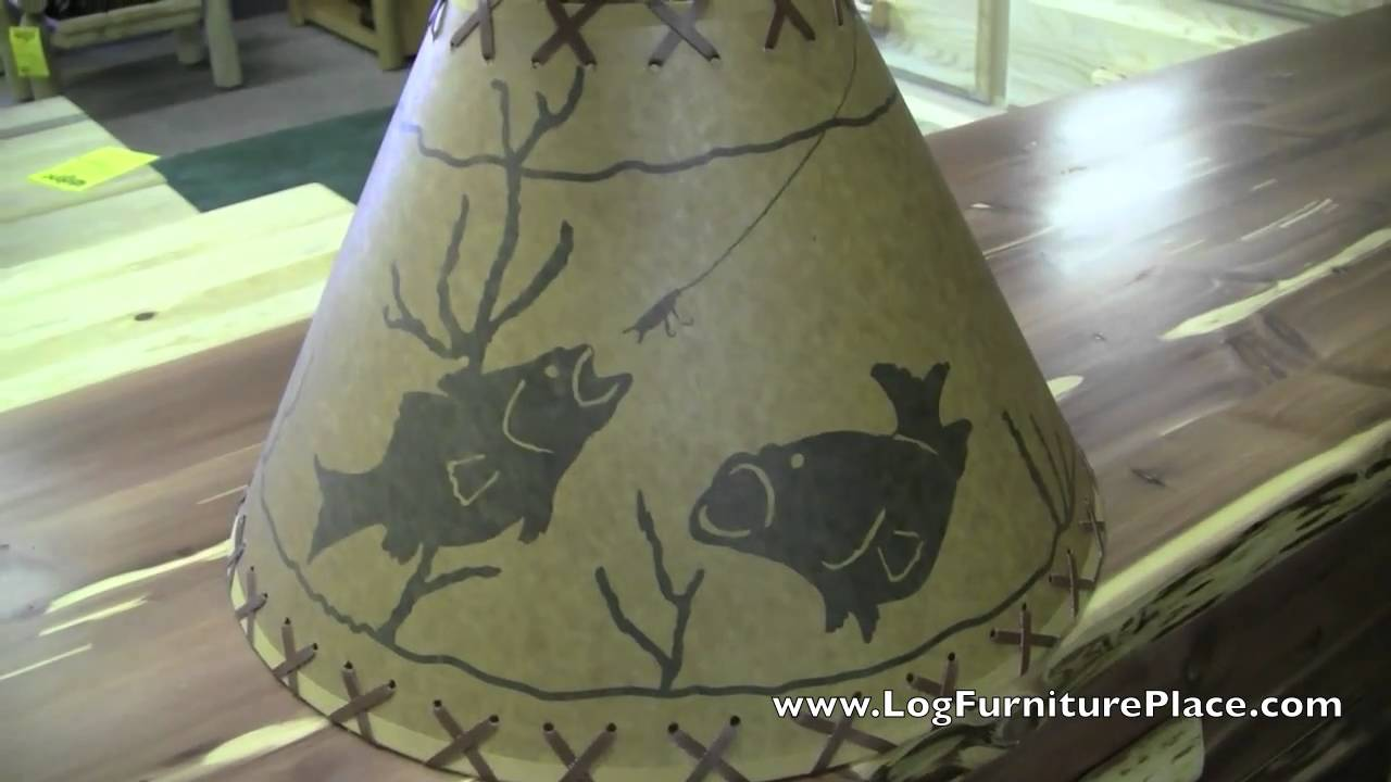Fish lampshade fishing lamp shade log cabin decor from jhes fish lampshade fishing lamp shade log cabin decor from jhes youtube aloadofball