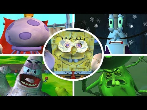 SpongeBob Battle for Bikini Bottom – All Bosses (No Damage)