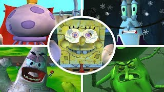 SpongeBob Battle for Bikini Bottom - All Bosses (No Damage)